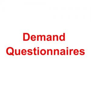 GTCAP Demand Questionnaires